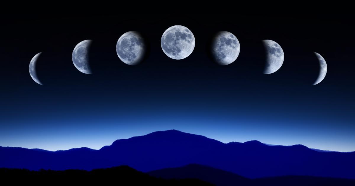 Lune ascendante ou montante / descendante